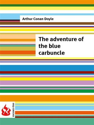 cover image of The adventure of the blue carbuncle (low cost). Limited edition