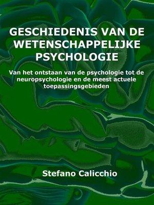 cover image of Geschiedenis van de wetenschappelijke psychologie
