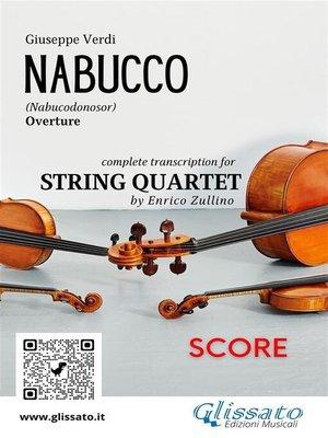 cover image of Nabucco (overture) String Quartet--Score
