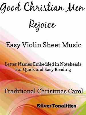 cover image of Good Christian Men Rejoice Easy Violin Sheet Music