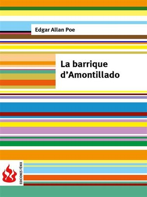 cover image of La barrique d'Amontillado (low cost). Édition limitée