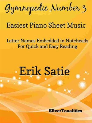 cover image of Gymnopedie Number 3 Easiest Piano Sheet Music