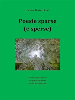 cover image of Poesie sparse (e sperse)