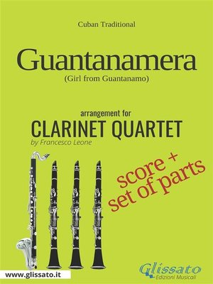 cover image of Guantanamera--Clarinet Quartet score & parts