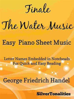 cover image of Finale the Water Music Easy Piano Sheet Music