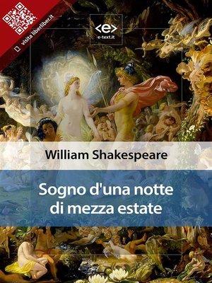 cover image of Sogno di una notte di mezza estate