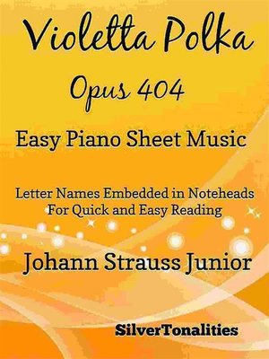 cover image of Violetta Polka Opus 404 Easy Piano Sheet Music