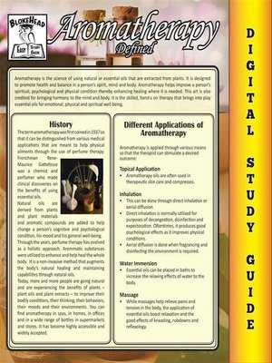 cover image of Aromatherapy (Blokehead Easy Study Guide)
