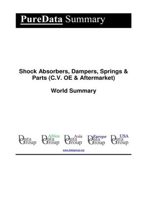 cover image of Shock Absorbers, Dampers, Springs & Parts (C.V. OE & Aftermarket) World Summary