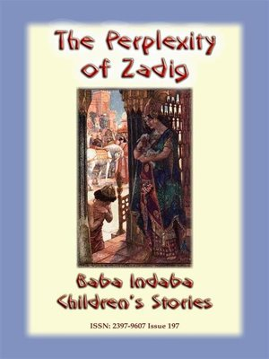 cover image of THE PERPLEXITY OF ZADIG--A Persian Children's Story
