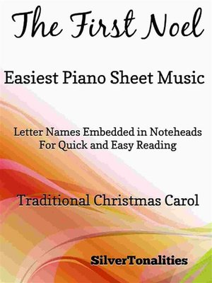 cover image of First Noel Easiest Piano Sheet Music