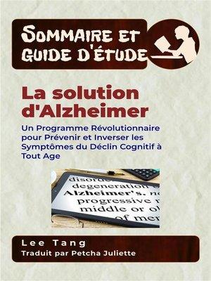 cover image of Sommaire Et Guide D'Étude – La Solution D'alzheimer