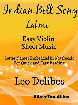 cover image of Indian Bell Song Lakme Easy Violin Sheet Music