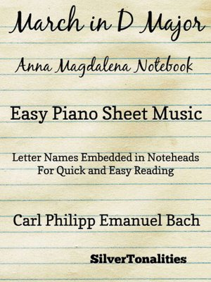 cover image of March In D Major Anna Magdalena Notebook Easy Piano Sheet Music