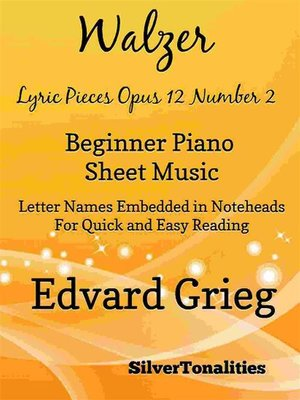 cover image of Walzer Lyric Pieces Opus 12 Number 2 Beginner Piano Sheet Music