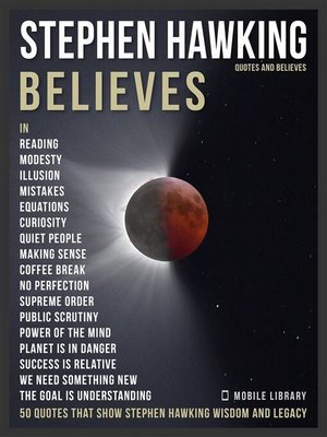 cover image of Stephen Hawking Quotes and Believes