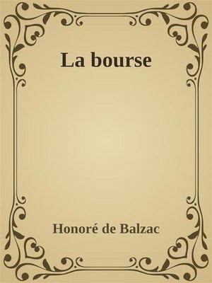 cover image of La bourse