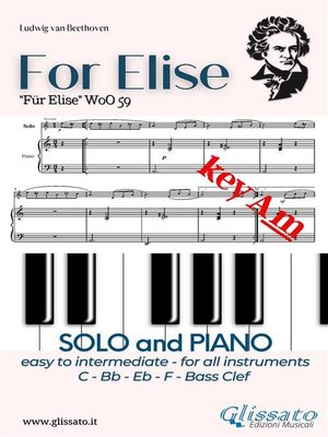 cover image of For Elise--All instruments and Piano (easy/intermediate) key Am