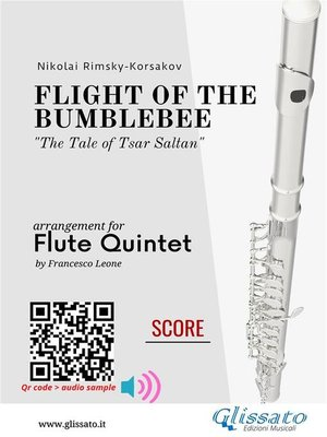 cover image of Flight of the Bumblebee--Flute Quintet--Score