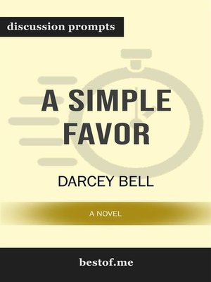 cover image of A Simple Favor--A Novel--Discussion Prompts