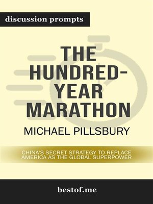 "cover image of Summary--""The Hundred-Year Marathon--China's Secret Strategy to Replace America as the Global Superpower"" by Michael Pillsbury 