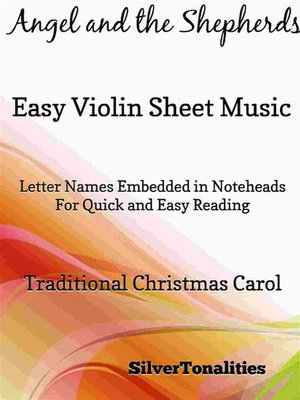 cover image of Angel and the Shepherds Easy Violin Sheet Music