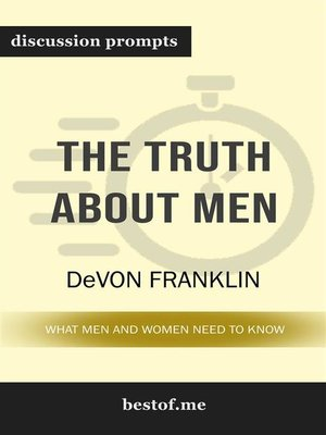"cover image of Summary--""The Truth About Men--What Men and Women Need to Know"" by DeVon Franklin 