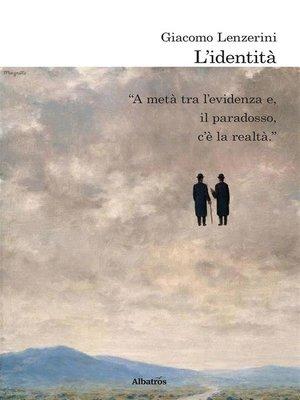 cover image of L'identità
