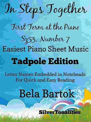 cover image of In Steps Together First Term at the Piano Sz53 Number 7 Easiest Piano Sheet Music