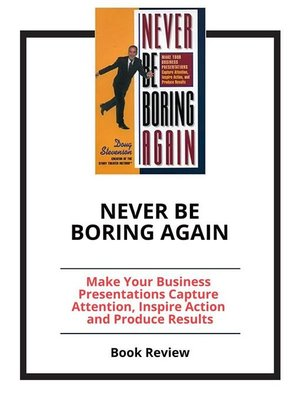 cover image of Never Be Boring Again