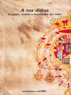 cover image of A tua difesa