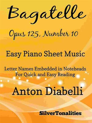 cover image of Bagatelle Opus 125 Number 10 Easy Piano Sheet Music