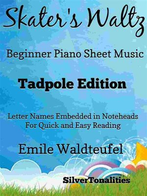 cover image of The Skater's Waltz Easiest Beginner Piano Sheet Music