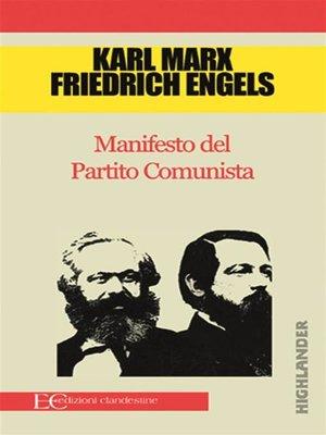 cover image of Manifesto del Partito comunista