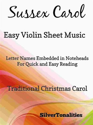 cover image of Sussex Carol Easy Violin Sheet Music