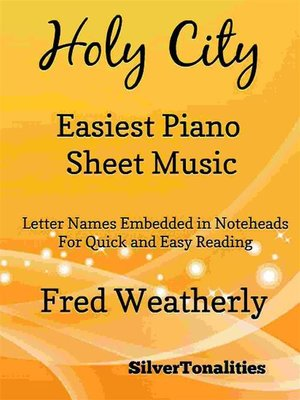cover image of Holy City Easiest Piano Sheet Music