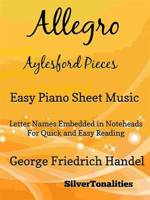 cover image of Allegro Aylesford Pieces Easy Piano Sheet Music