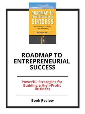 cover image of Roadmap to Entrepreneurial Success