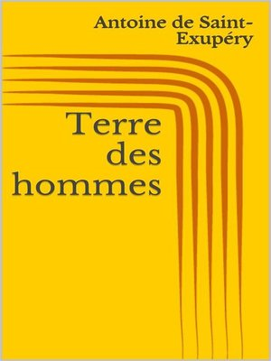 cover image of Terre des hommes
