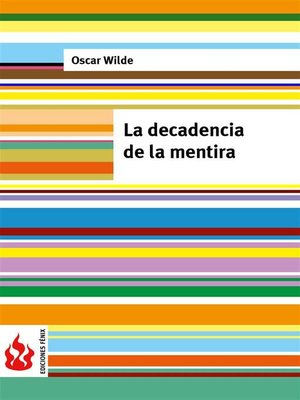cover image of La decadencia de la mentira (low cost). Edición limitada