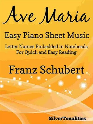 cover image of Ave Maria Easy Piano Sheet Music