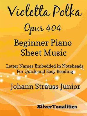 cover image of Violetta Polka Opus 404 Beginner Piano Sheet Music