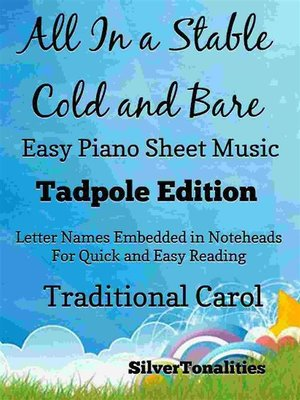 cover image of All In a Stable Cold and Bare Easy Piano Sheet Music Tadpole Edition