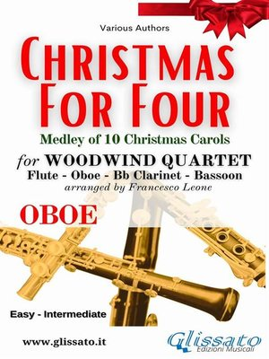 cover image of (Oboe) Christmas for four--Woodwind Quartet