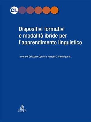 cover image of Dispositivi formativi per l'apprendimento linguistico