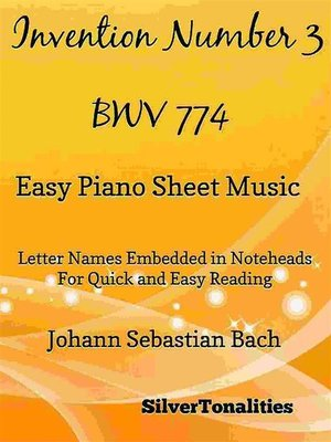 cover image of Invention Number 3 BWV 774 Easy Piano Sheet Music