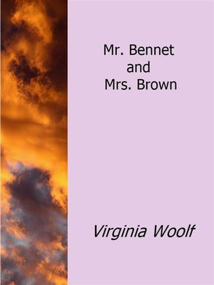 cover image of Mr. Bennet and Mrs. Brown