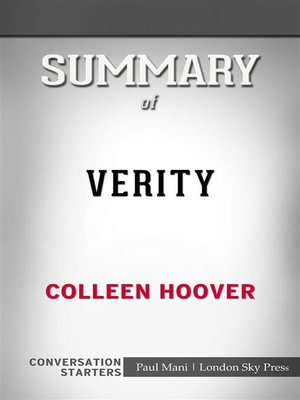 cover image of Verity--by Colleen Hoover​​​​​​​ | Conversation Starters