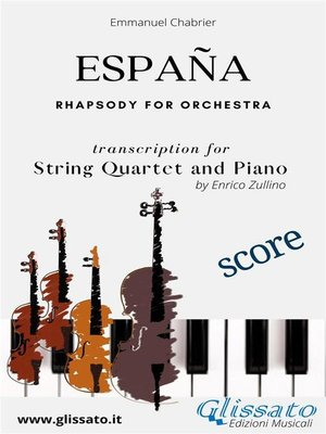 cover image of España--String Quartet and Piano (score)