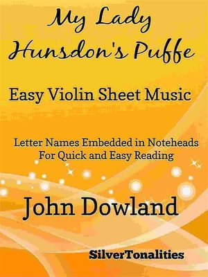 cover image of My Lady Hunsdon's Puffe Easy Violin Sheet Music